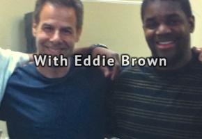 With Eddie Brown