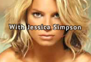 With Jessica Simpson