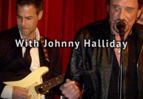 Avec Johnny Halliday & Michel Berger
